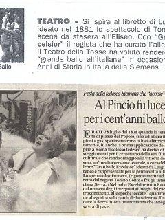 Armando Bandini Recensione Della Commedia Musicale Gran Ballo Excelsior 1999