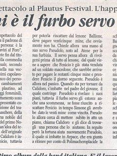 Armando Bandini Recensione Di Pseudolus 2006