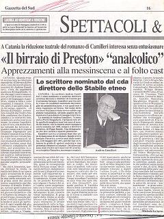 Armando Bandini Recensione3 Della Commedia Il Birraio Di Preston 1999