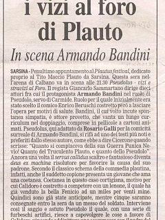 Armando Bandini Recensione3 Di Pseudolus 2006