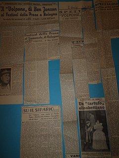 Armando Bandini Recensioni E Giornali Della Commedia Il Volpone 1955