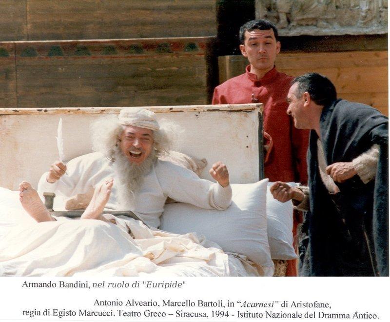 Armando Bandini nel ruolo di Euripide 1994