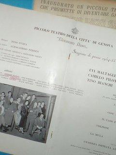 Emma Fedeli E Armando Bandini Inaugurano La Stagione Teatrale Del Piccolo Teatro Eleonora Duse Di Genova 1954