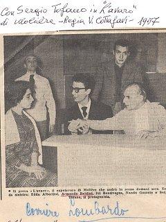 Armando Bandini Con Sergio Tofano In L Avaro Di Moliere Regia Di Cottafavi Televisione 1957
