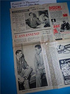 Armando Bandini In L Assassino Regia Di Giancarlo Galassi Beria Televisione 1955